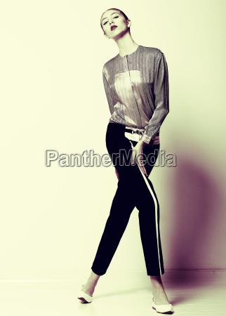 vogue pretty fashion model in black