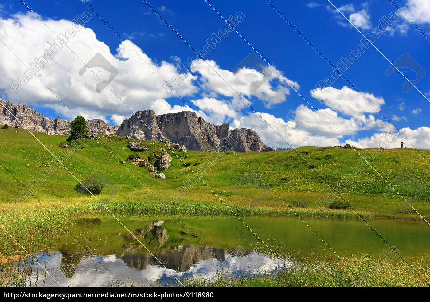 dolomites, alps, alp, south tyrol, rock, mirroring - 9118980
