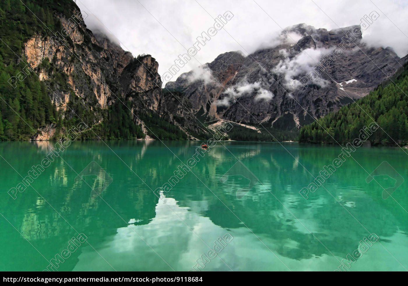 mountains, green, dolomites, alps, mirroring, rowing boat - 9118684