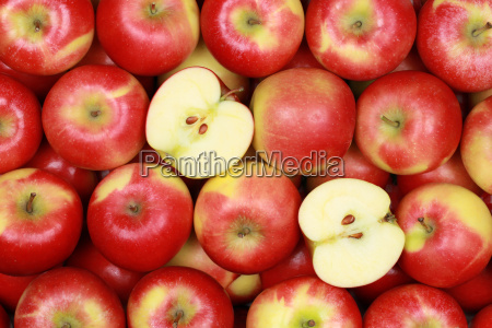 apples forming a background