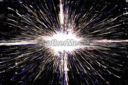 white grunge explosion background