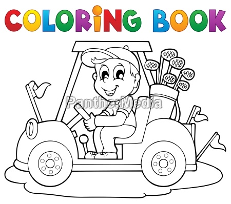 coloring book outdoor sport theme 2