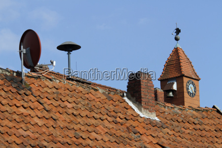 roofs with clock tower