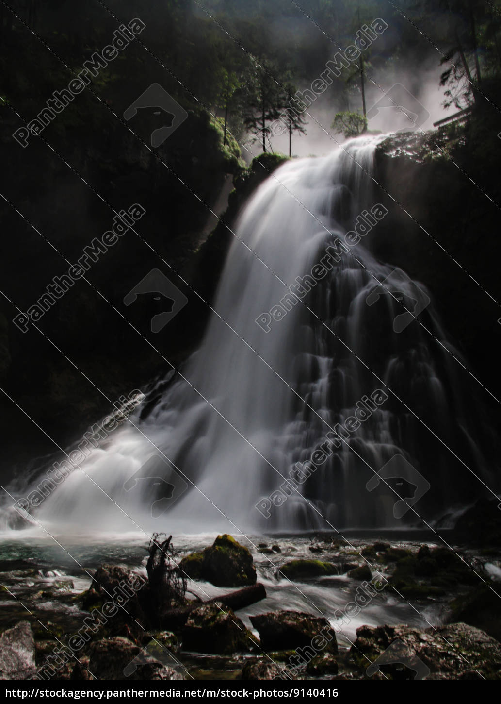 rock, waterfall, spray, river bed, mountain, water - 9140416