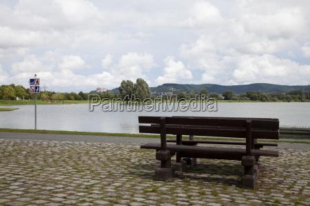 waters bridge lake for bathing fresh