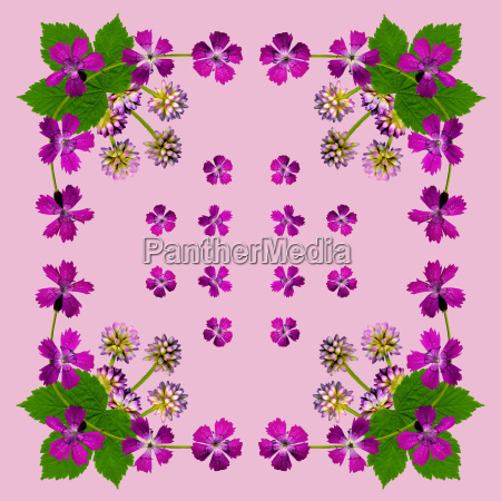 napkin with purple flowers
