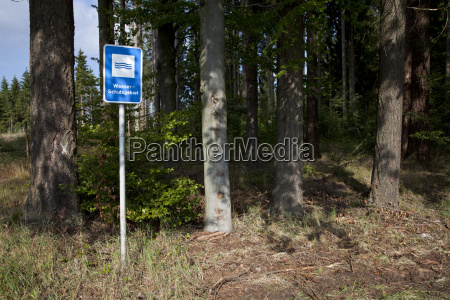 water reserve and trees at the