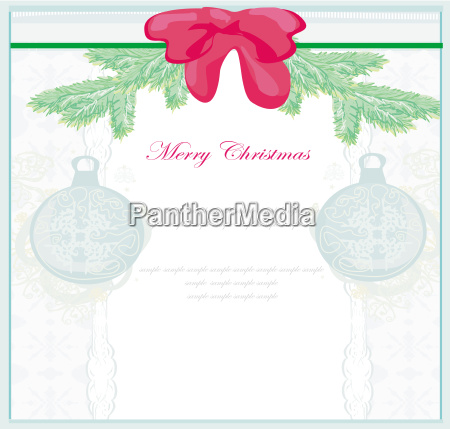 christmas framework style card with bauble