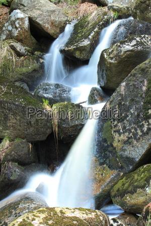water cascade over rocks