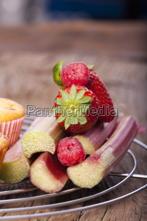 close up fruits for muffins