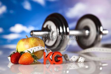 healthy lifestyle concept vitamins
