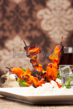 indian tandoori skewers