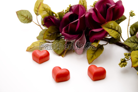 marzipan heart with garland