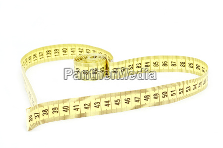 tape measure heart shape health