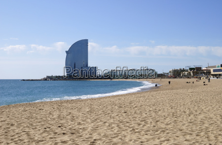 beach at barcelona spain