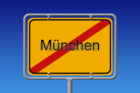 city sign munich