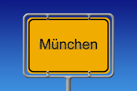 town sign munich