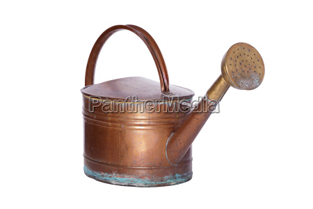 old copper watering