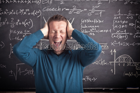 stressed teacher at school