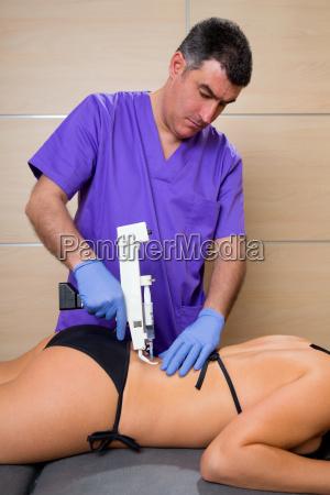 back lumbar mesotherapy gun doctor with