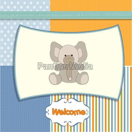 romantic baby girl announcement card