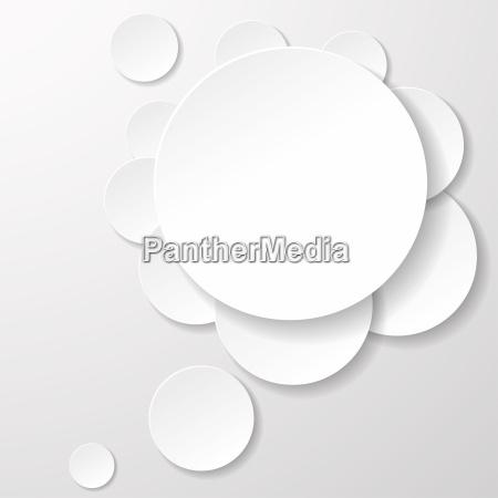 white speech bubble paper circles