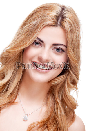attractive young blond woman in portrait