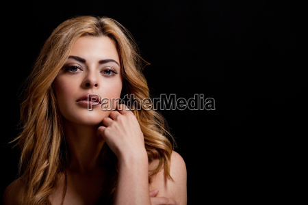 young pretty attractive woman portrait in
