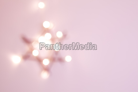 poinsettia fuzzy pink decoration