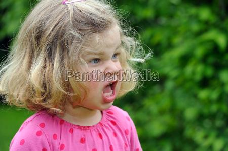 girl is angry