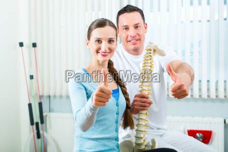 patient at the physiotherapy