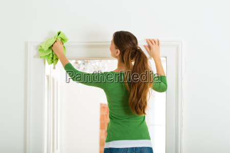 woman at spring cleaning
