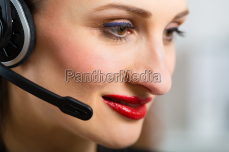 young woman from customer service