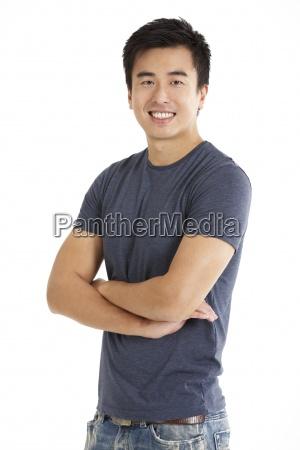 studio shot of chinese man