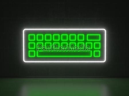 keyboard series neon signs