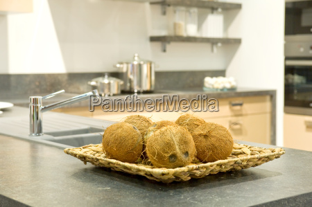 coconuts in a kitchen