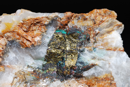 minerals with pyrite and quartz detail