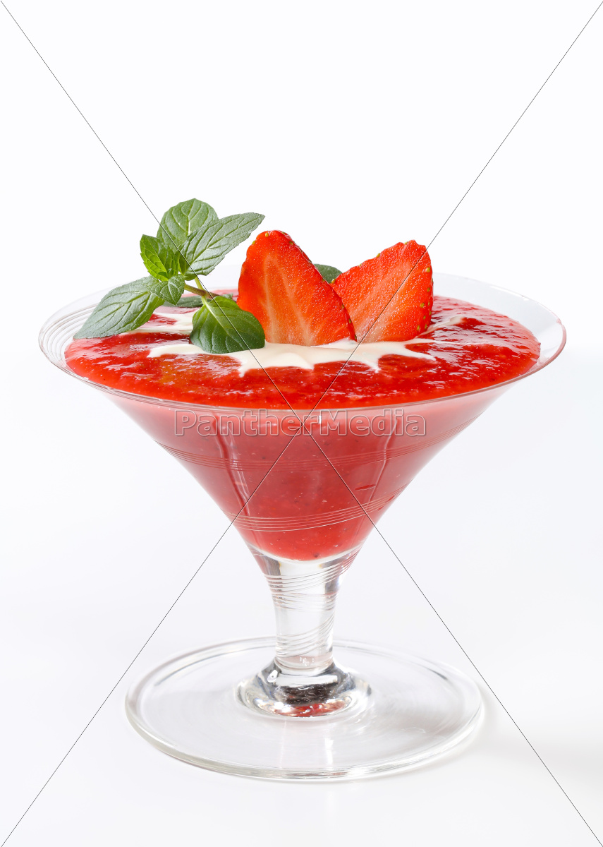 strawberry, puree, with, cream - 9416042