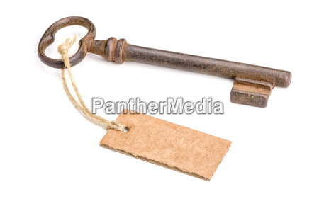 old key with pendant