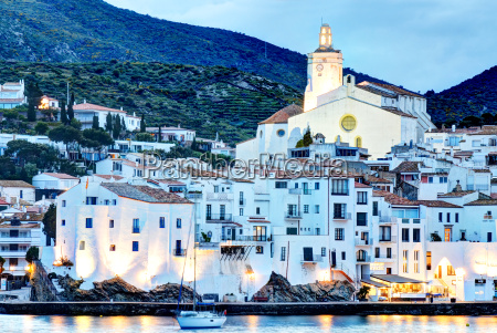 cadaques costa brava spain at dusk