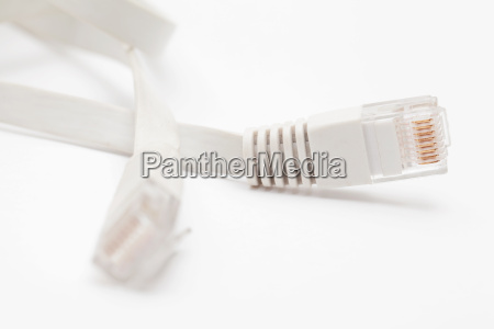 ethernet cable port isolated on white