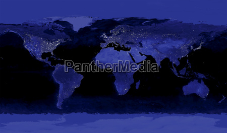 earths city lights
