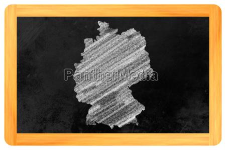 germany on a blackboard