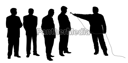 interview with business group or political