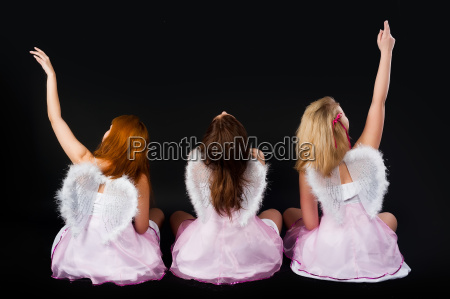 young women as angel