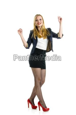blonde girl dancing