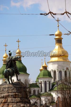 monument of famous ukrainian hetman bogdan