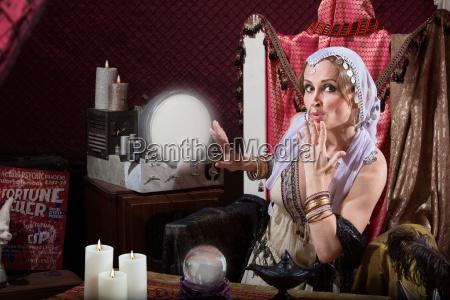 beautiful fortune teller