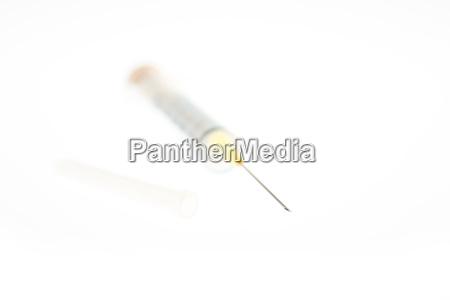 syringe with cannula syringe with