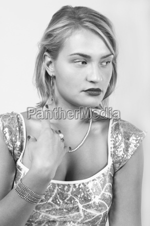 black and white portrait of a